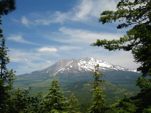 Mount Shasta from the Black Butte trail