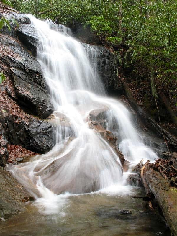 Waterfall on Log Hollow Branch, NC