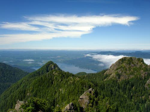 Lake Quinault from the summit
