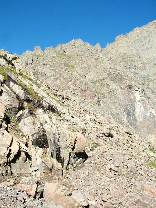 Climbing to Brokenhand Pass