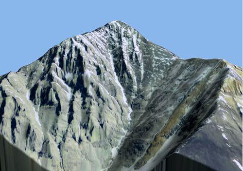 Borah Peak 3D Model