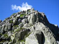 Looking up to Chimney Peak