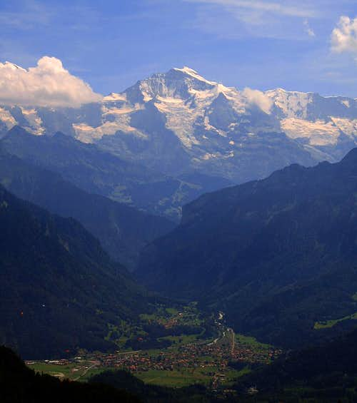 Jungfrau above Interlaken