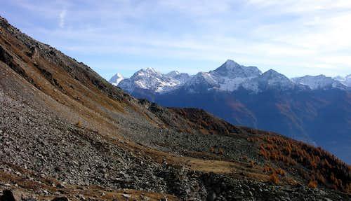 Il gruppo del Monte Emilius dai pressi del colle di Viou