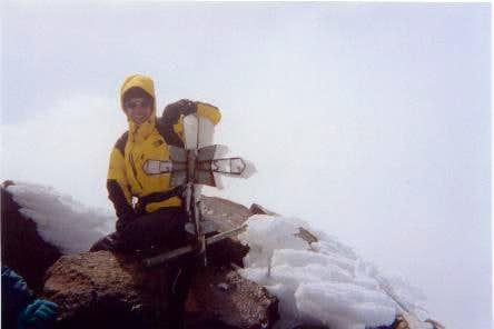 On the summit of Iliniza Norte