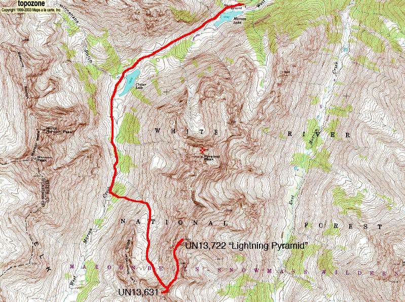 UN13,722  Lightning Pyramid  South Ridge