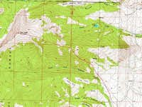 Deer Lodge Mtn topo map w/ route