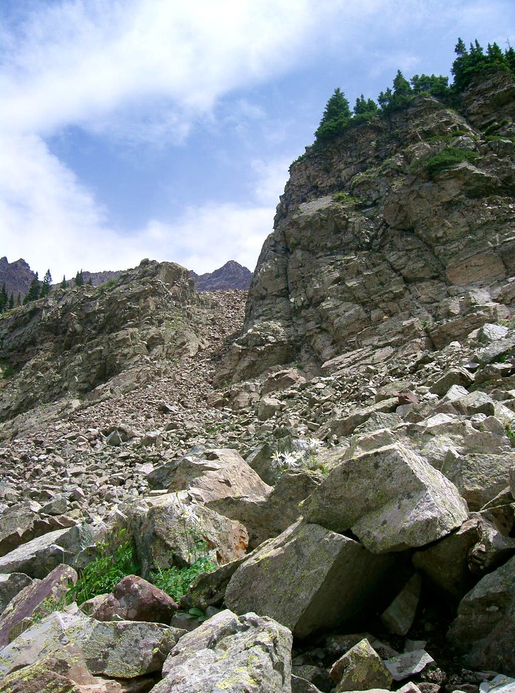 Upper Gully Below Thunder Pyramid & UN13,722
