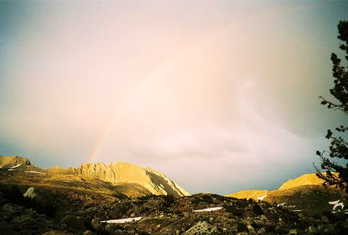 A Rainbow over Mt. Emerson July 25, 2006