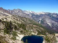 Summit Chief Lake below Bear's Breast and Daniel