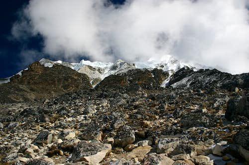 View towards the summit of Island Peak
