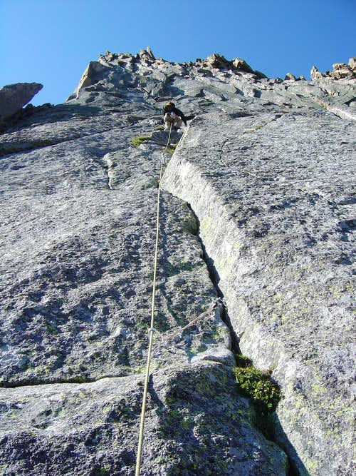 brenta leads our third roped pitch