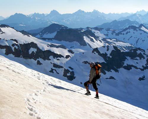 John K. on boulder glacier