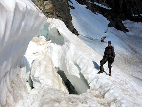Bergshrund on the Gooseneck Glacier