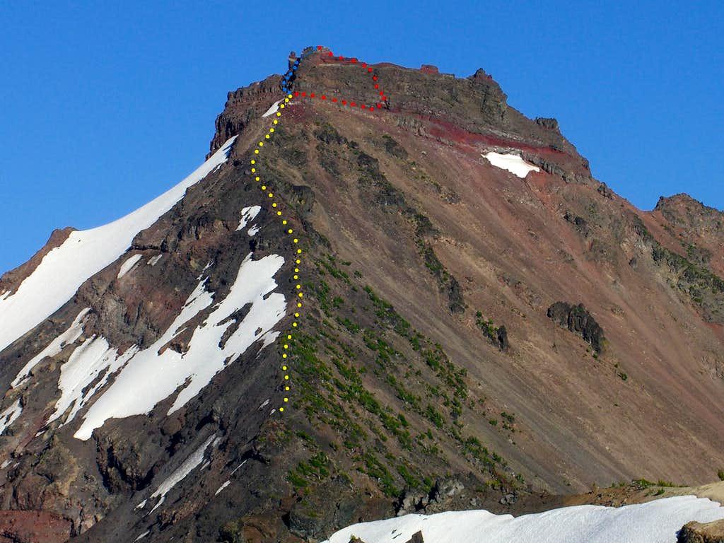 Broken Top Mountain - NW Ridge Route