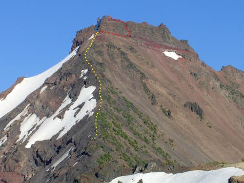 Broken Top Mountain - NW Ridge Route