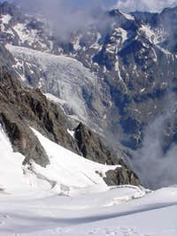 Crevasses on Glacier des Violettes Glacier