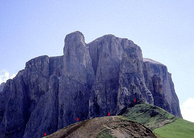 Sella Towers from Sella Pass