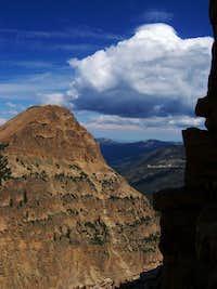 Descending the NW ridge...