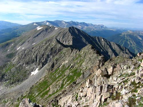 Tenmile Range from Tenmile Peak