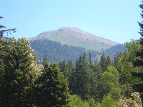 Grays Peak from the East Fork Road