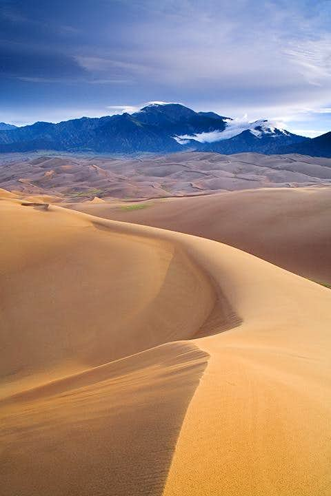 Dunes and Sangre de Cristo Mountains