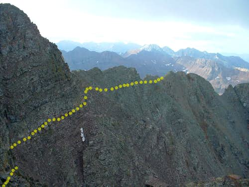 Approximate Route from South Ridge