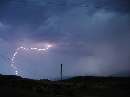 Lightning over the Rogue Valley