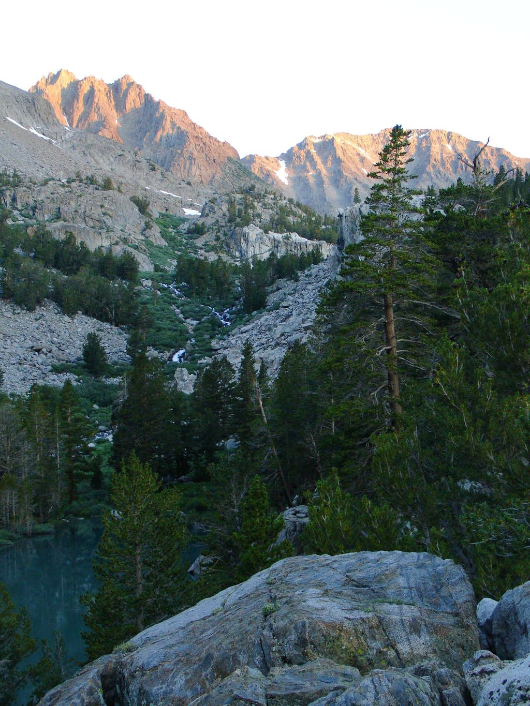 Two Eagle Peak at sunrise