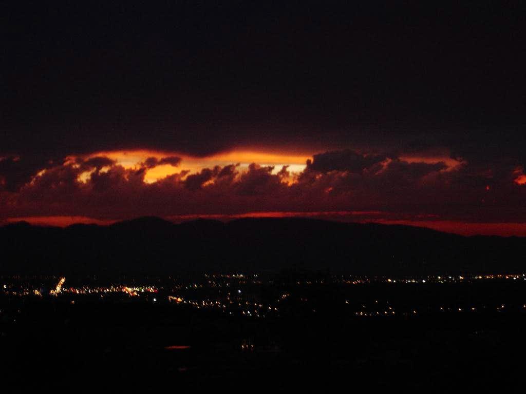 Sunset over Medford, OR