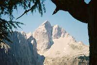 Jalovec seen from Sleme, 22 July 2006