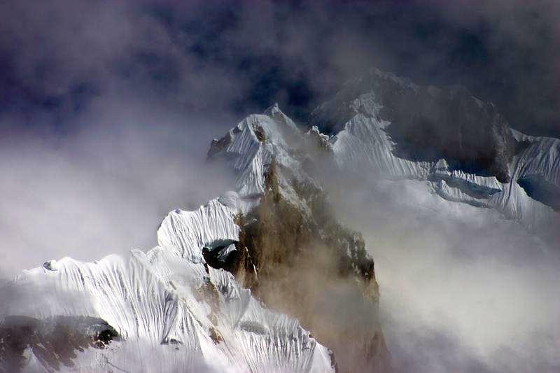 Misty Ridge on Yerupaja