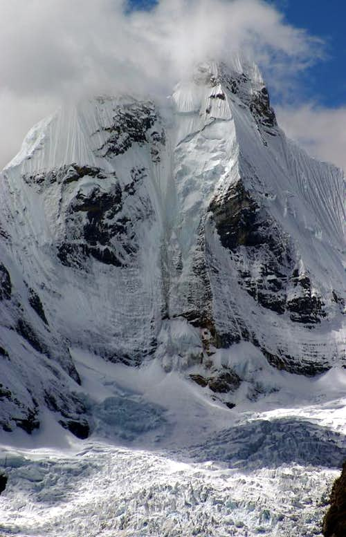 West Face of Jirishanca