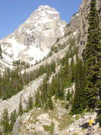 Middle Teton from Lower Reaches of Garnet Canyon
