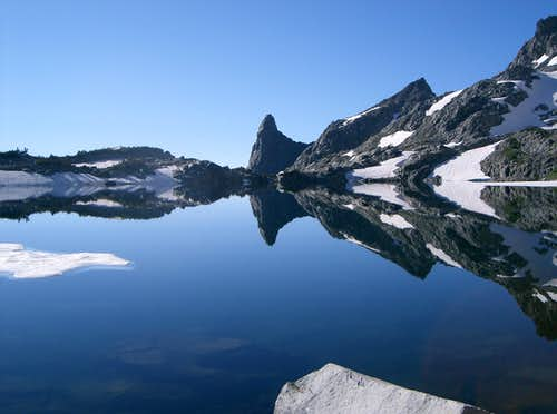 Perfect mirror of Cecile Lake.