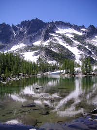 McClellan Peak from Leprechaun Lake