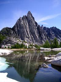 Prusik Peak from Gnome Tarn