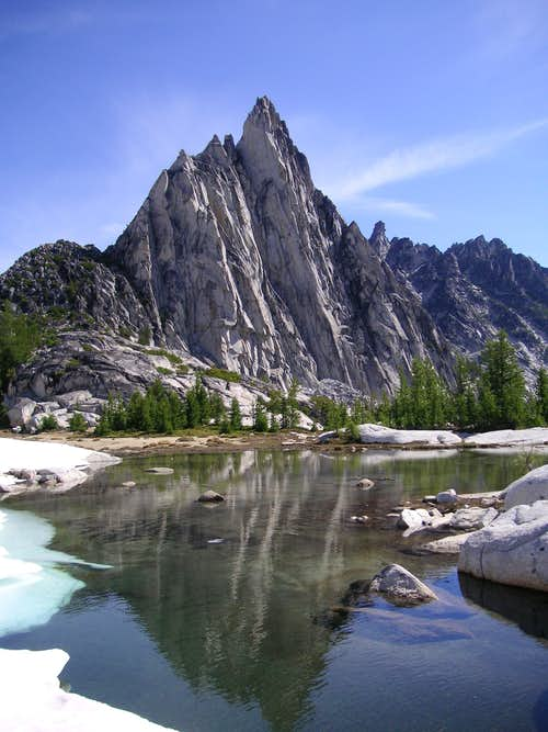 Prusik Peak from Gnome Tarn