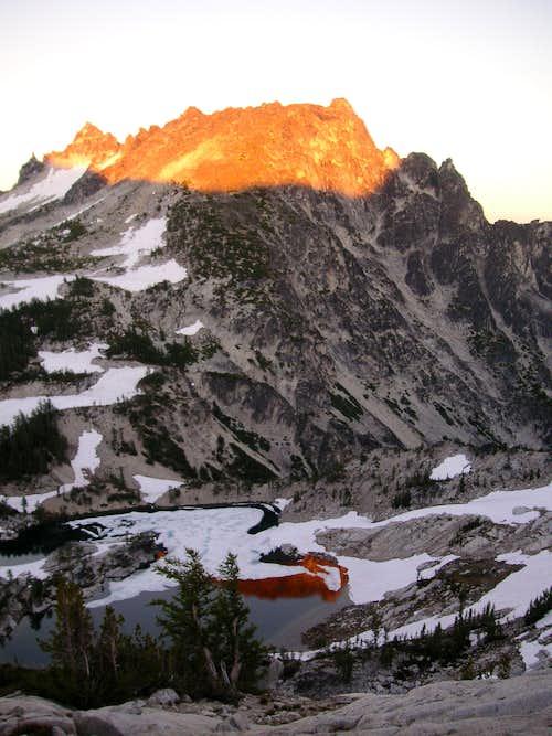 McClellan Peak from our camp above Crystal Lake
