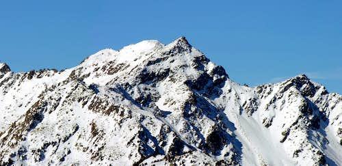 La Becca Pouignenta (2827 m) versante nord est