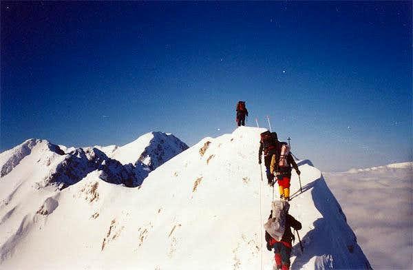 The main ridge of Piatra Craiului
