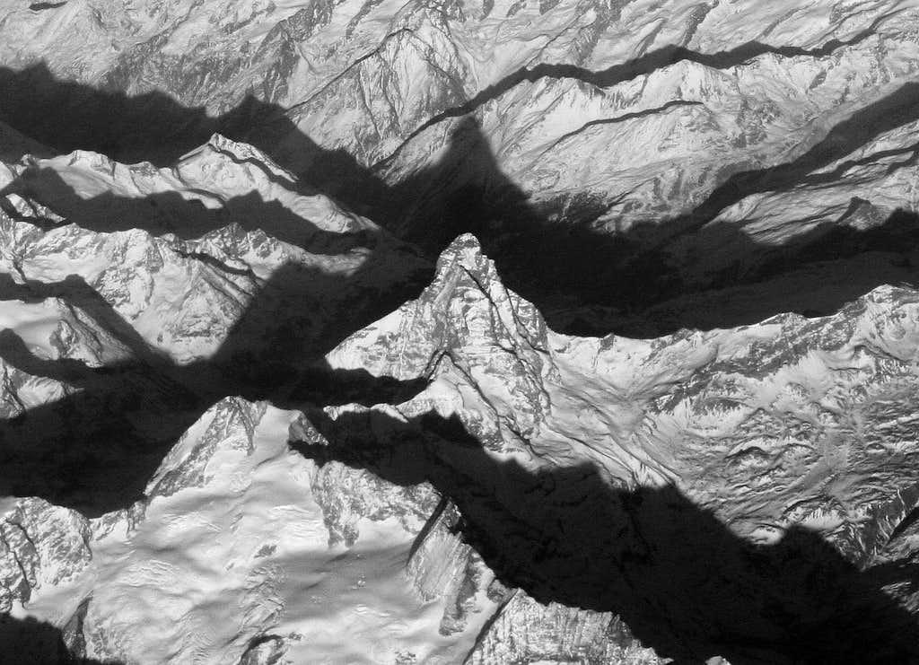 Matterhorn from the air
