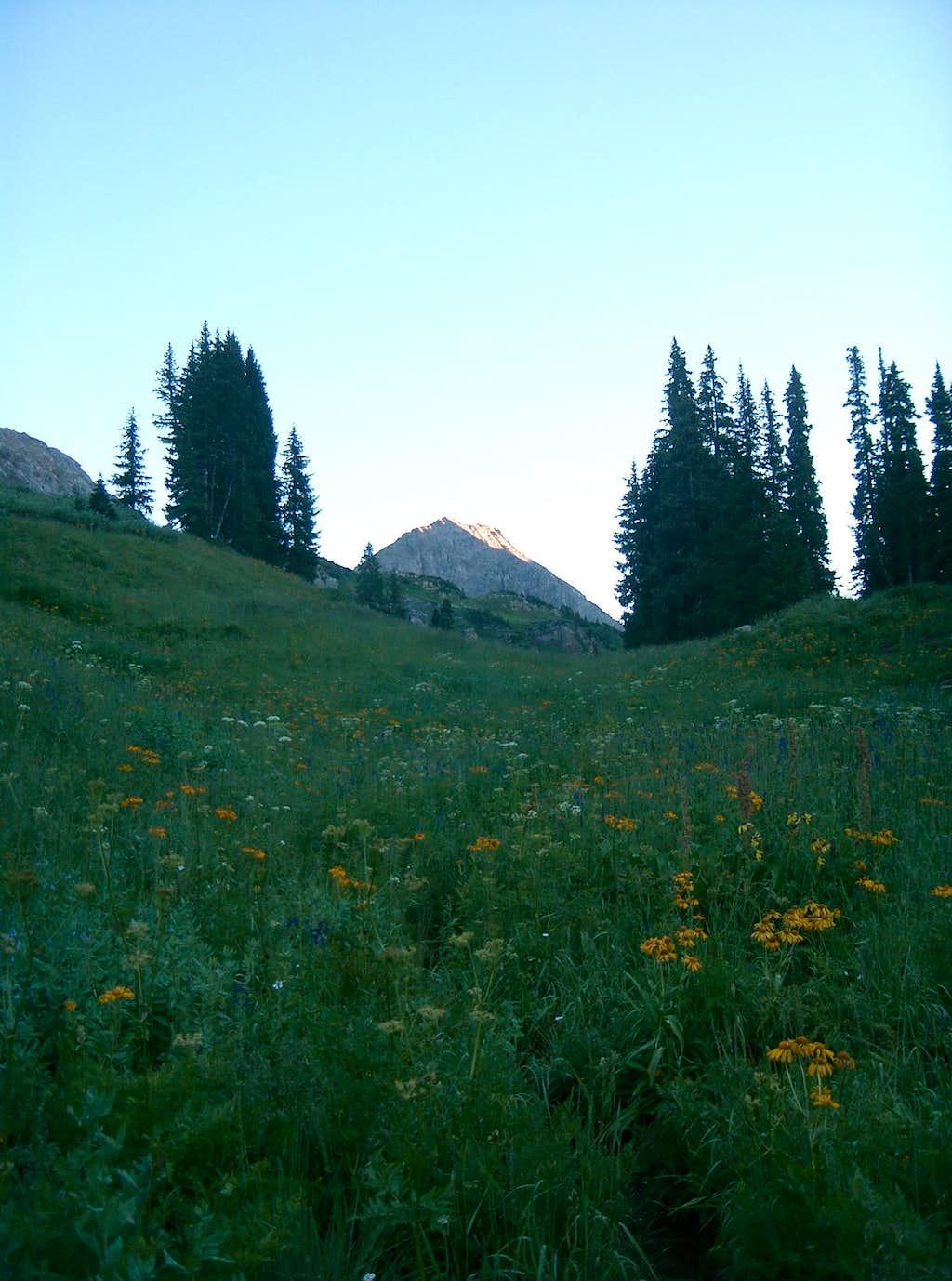 Siberia Peak from Little Gem Lake Trail