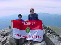 Troop 17 Shavano Summit