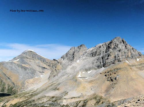 Ptarmigan Peak, Pika Peak and Mount Richardson