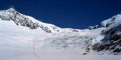 on the Mittelaletsch glacier...