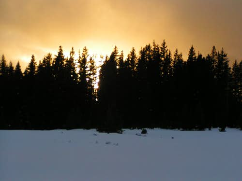 Winter Sunset on the Grand Mesa