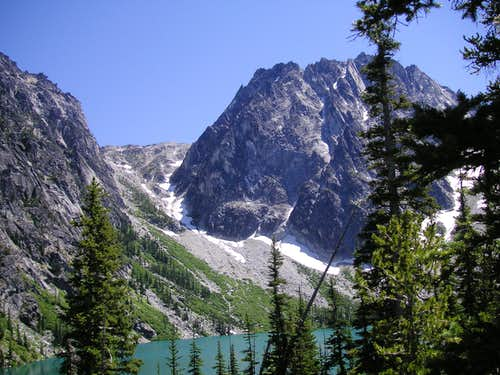 Dragontail Peak and Aasgard Pass from Colchuck Lake