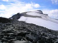 Route to the summit of Galdhøpiggen