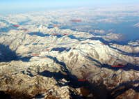 Pennine Alps by air overview (I/II)- labeled